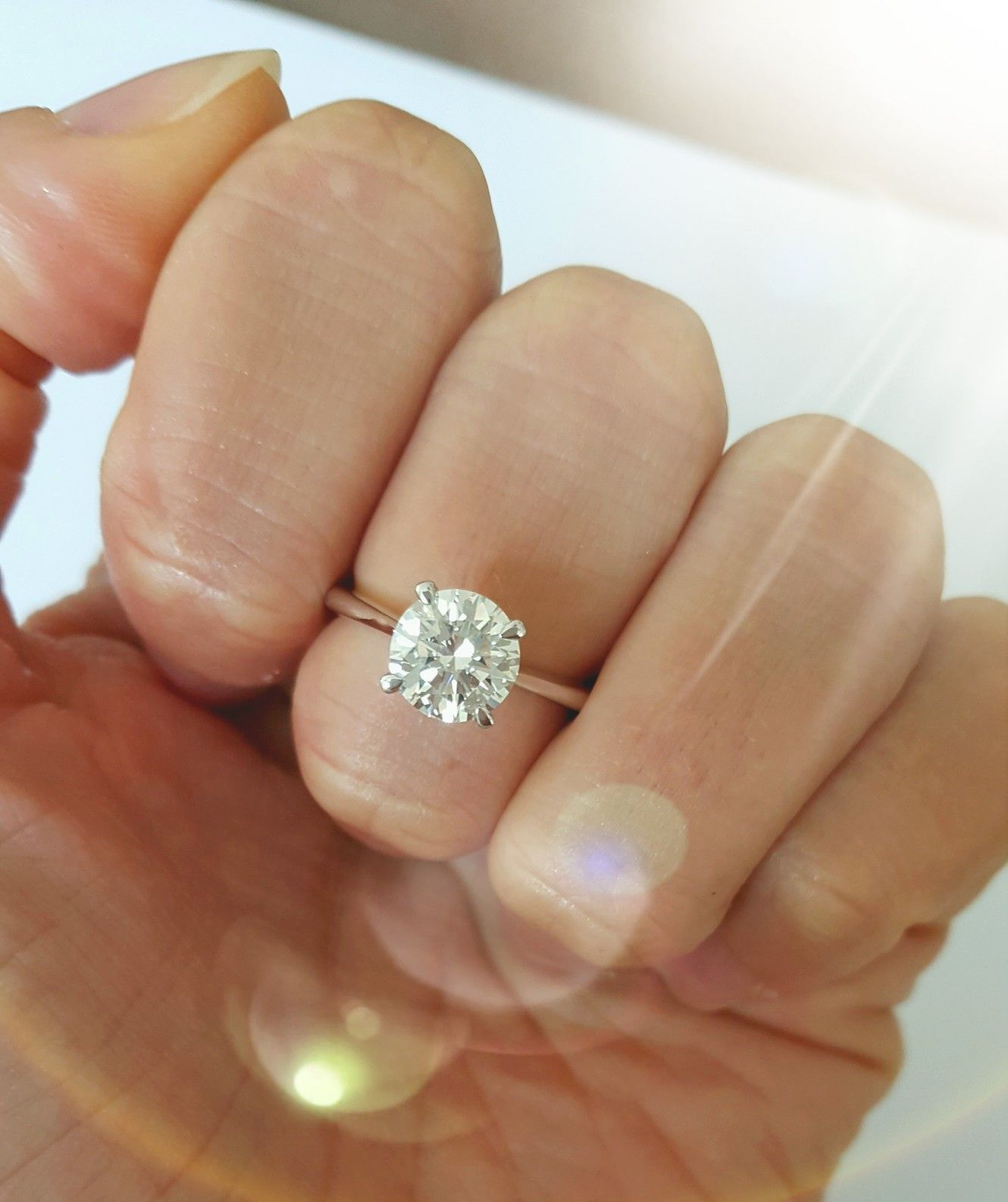 Stunning 1 1 Carat Solitaire Diamond Ring On Hand Solitaire Engagement Ring Diamond Solitaire Rings Diamond