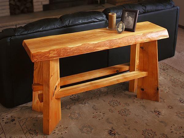 Project Slab Top Sofa Table Rustic Sofa Tables Sofa Table