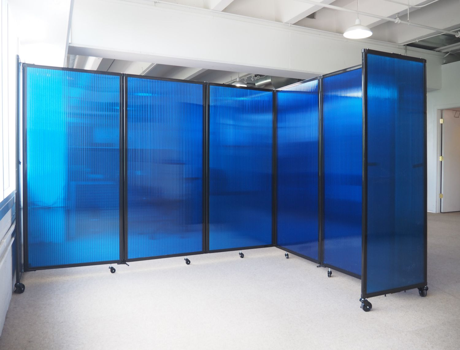 Let the light shine in using our polycarbonate room dividers ...