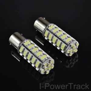2x Car 1157 68 Smd 3528 Led Pure White Tail Brake Turn Interior Light Bulb 12v Light Bulb