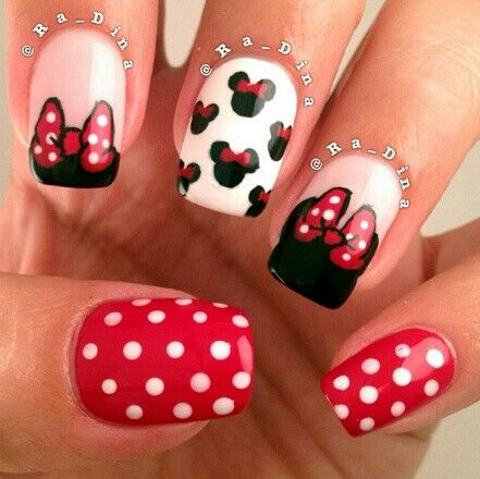 Minnie Mouse Nail Art - Minnie Mouse Nail Art Mani's For P! Pinterest Minnie Mouse