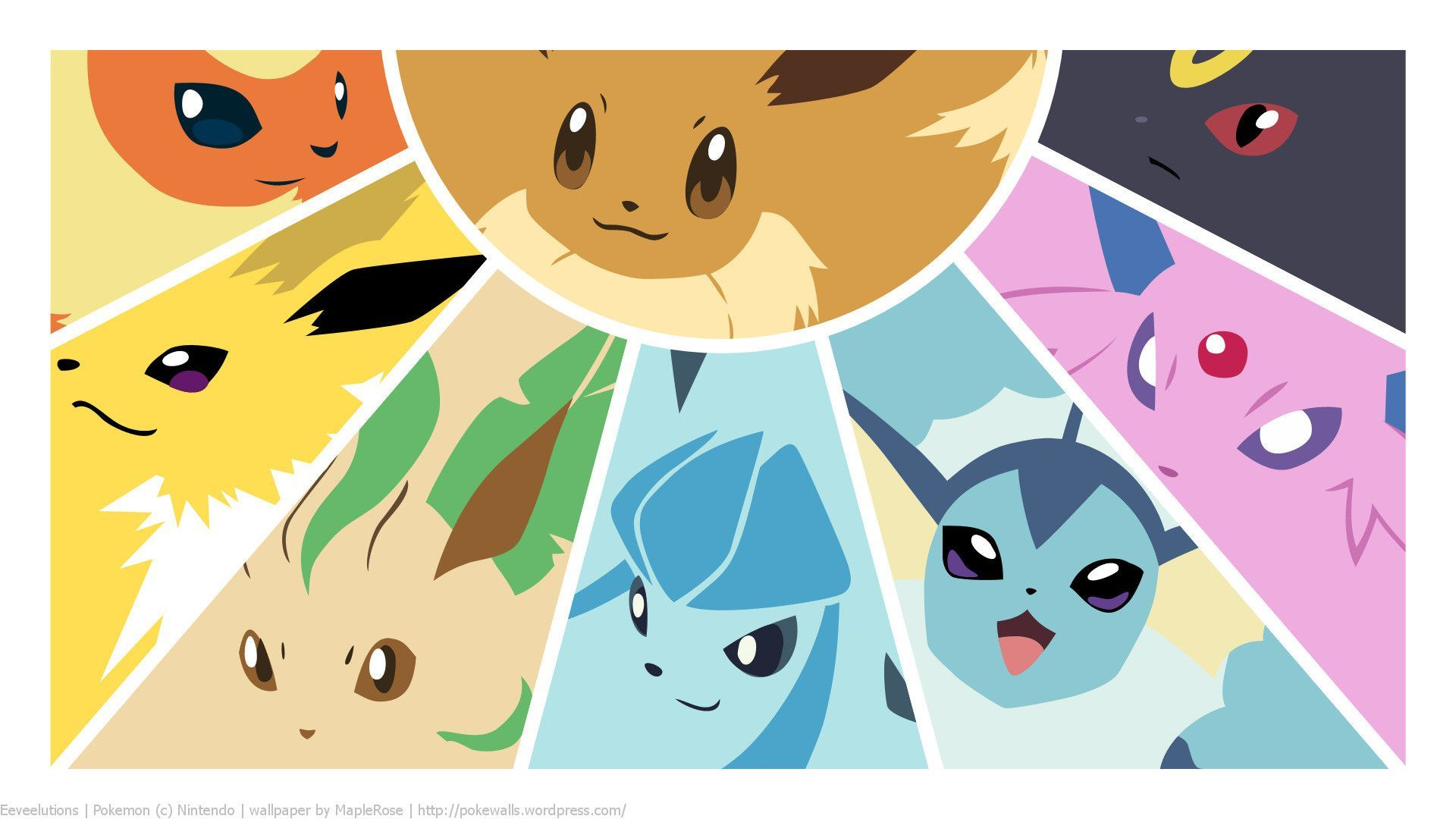 Eevee Evolutions Wallpaper Animals Wallpaper 1024×768