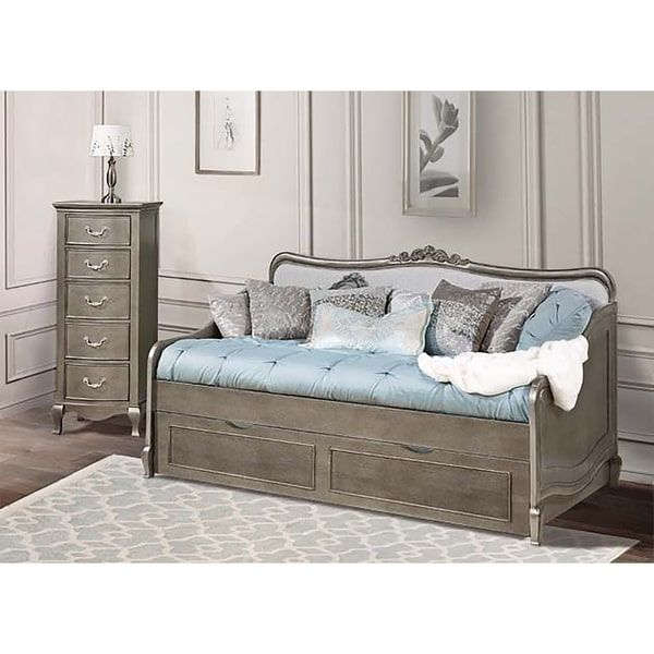 Kensington Elizabeth Antique Silver Daybed with Trundle Abby\u0027s - Daybed Images