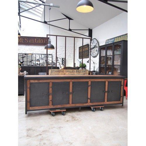 Exemple Fabrication meuble bois et metal