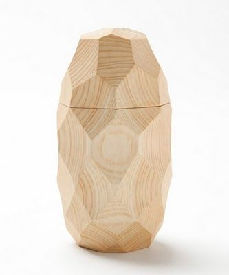 Faceted wooden Perfume. designer ?