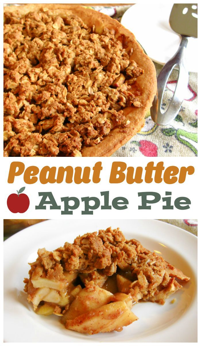 Enjoy the classic peanut butter and apple flavor combo in this easy to prepare pie recipe! #applepie