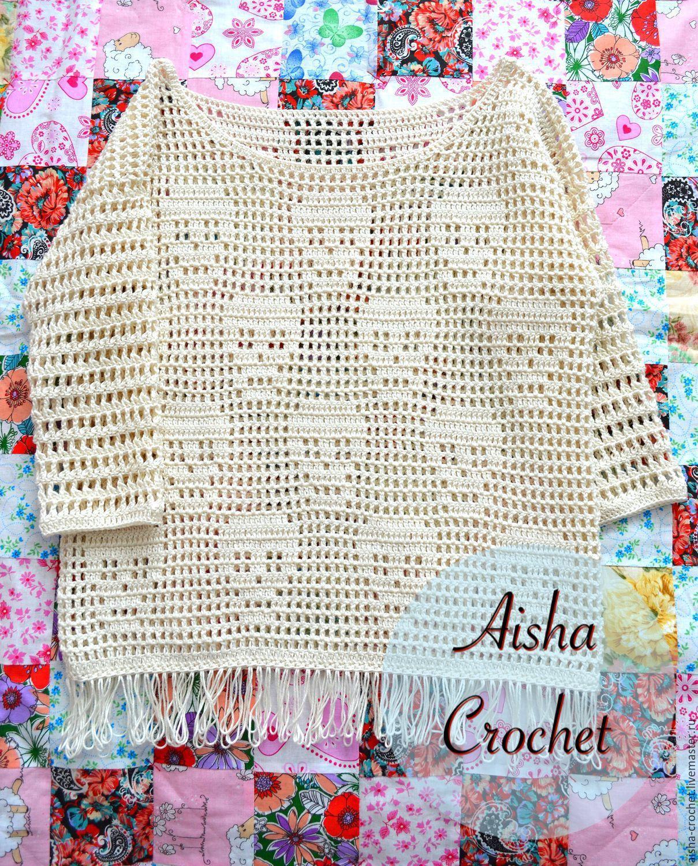 Кофты и свитера ручной работы. Джемпер с черепами. Aisha Crochet ...
