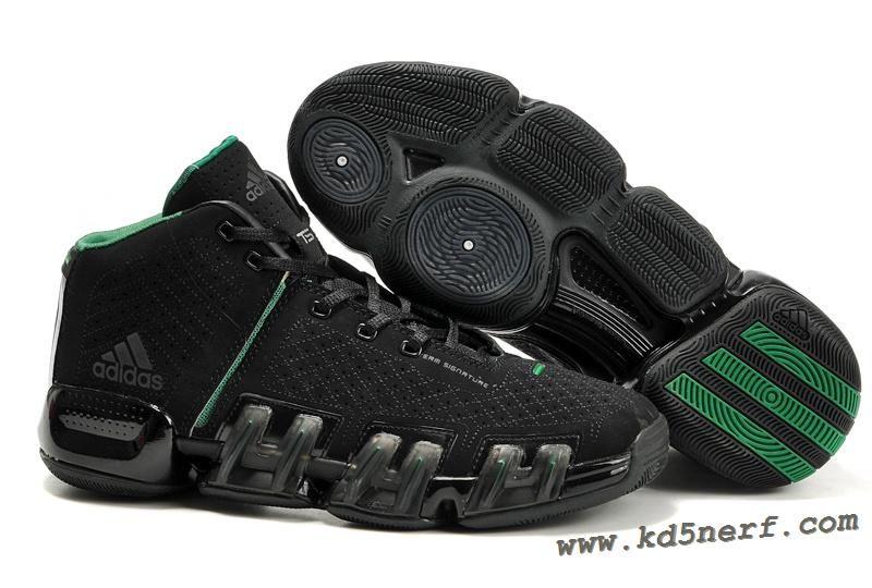 reputable site 9e4e3 0e2e0 Adidas TS Kevin Garnett Shoes Black Green Hot