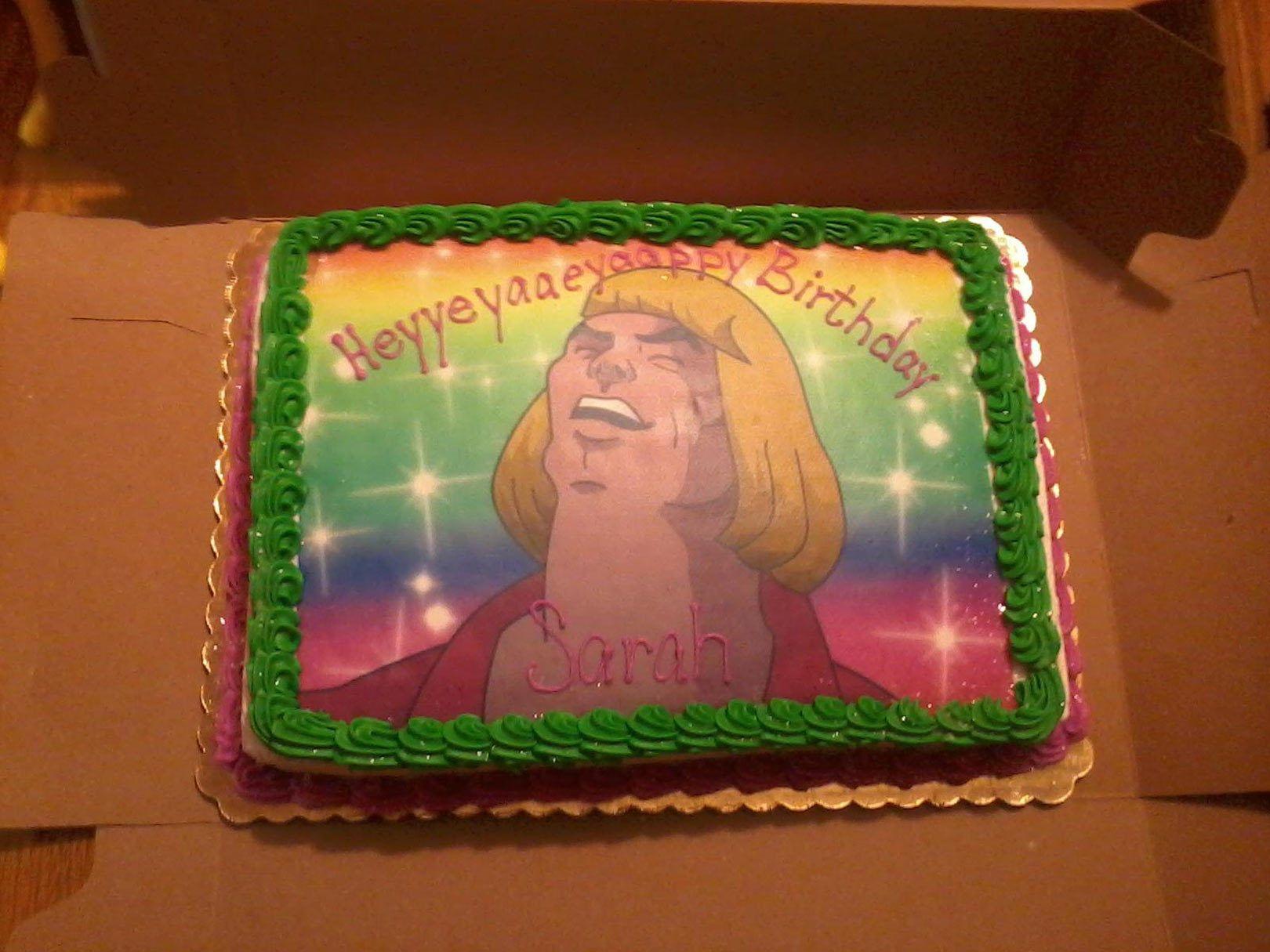Fabulous He Man Cake Happy Birthday Sarah 30Th Birthday Funny Funny Birthday Cards Online Sheoxdamsfinfo