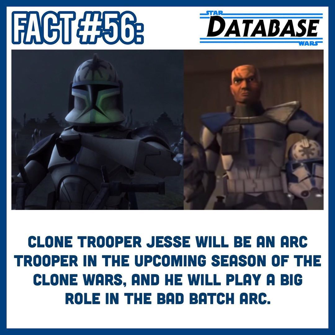 Star Wars Database On Instagram Hype To See One Of My Favorite Clones As An Arc Trooper Season 7 Is Go Star Wars Ahsoka Star Wars Facts Star Wars Clone Wars