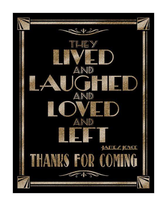 Lived Laughed Left Wedding Sign