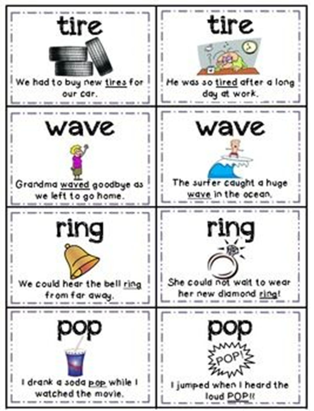 List Of Homographs In English Multiple Meaning Words Homographs Learn English Vocabulary