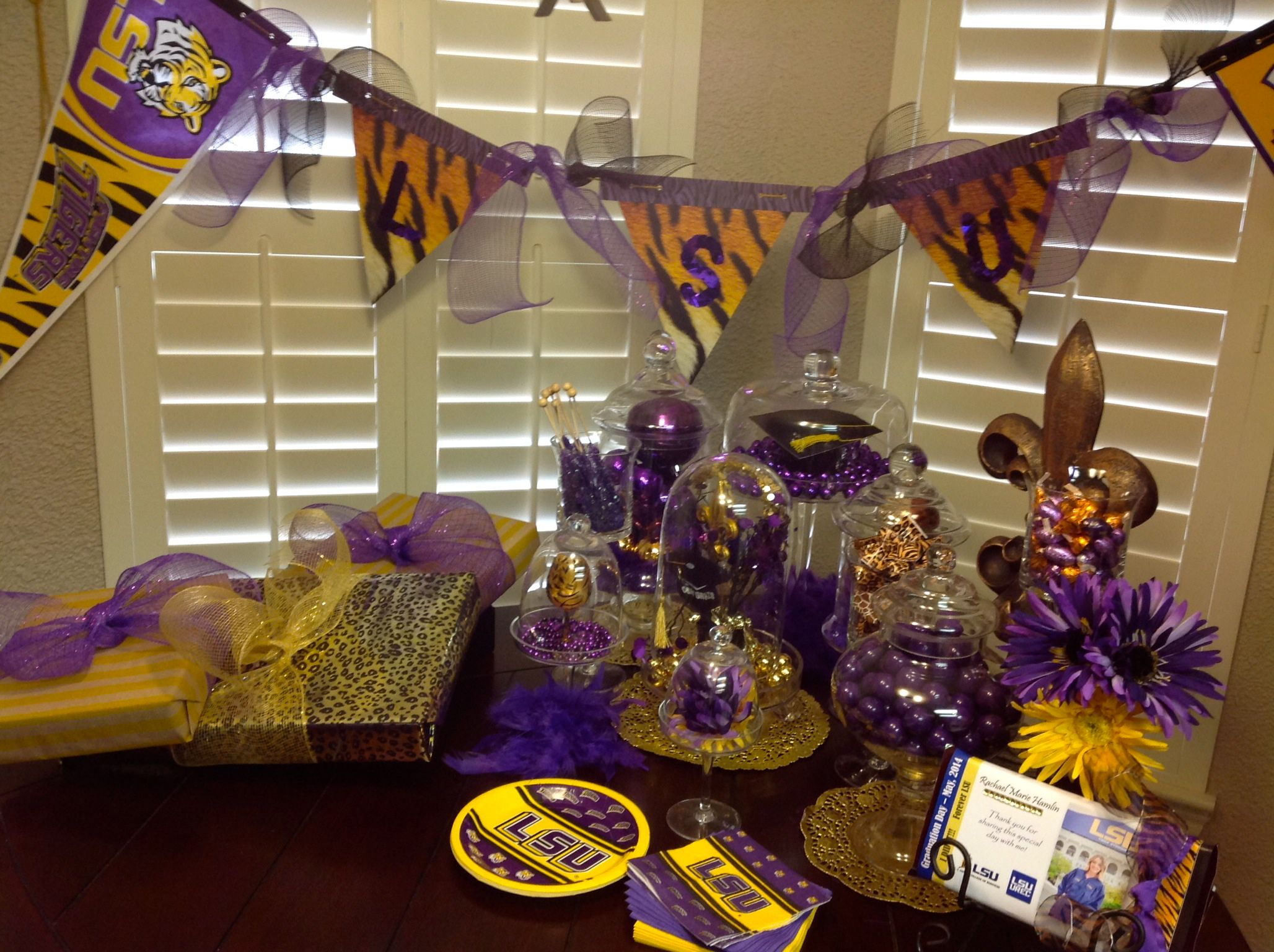 Lsu Party Table Decorations Geaux Tigers