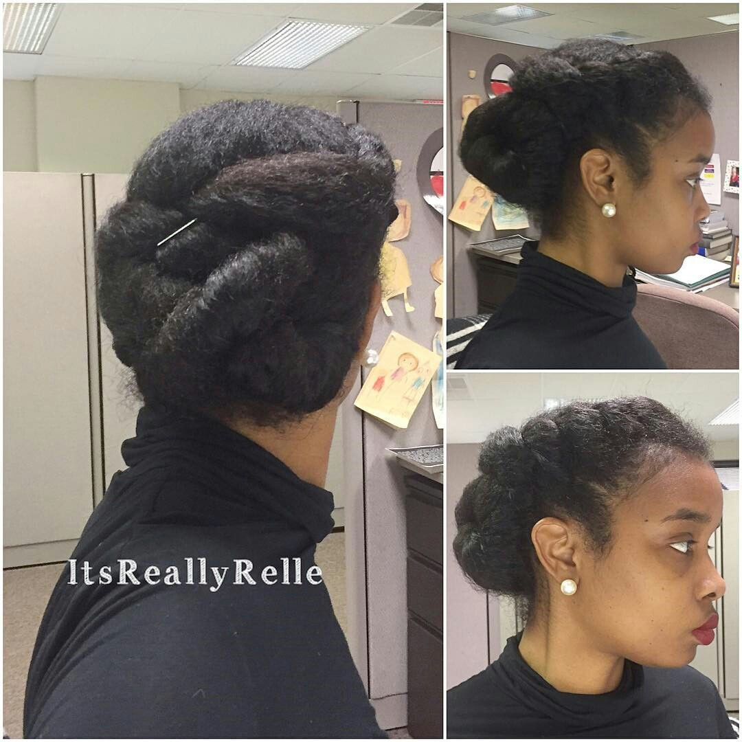 Updo On Natural Thick Hair Protective Style Natural Hair Styles Natural Hair Updo Natural Hair Beauty