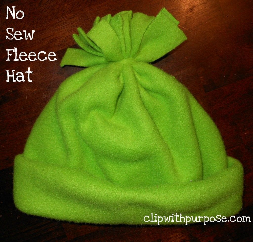 659065b5243ace No Sew Fleece Hat is an easy addition to an Operation Christmas Child  Shoebox