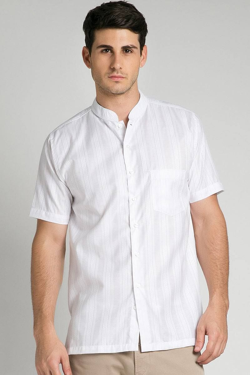 MEN LEBARAN COLLECTION SOLID TEXTURE SHIRT 005