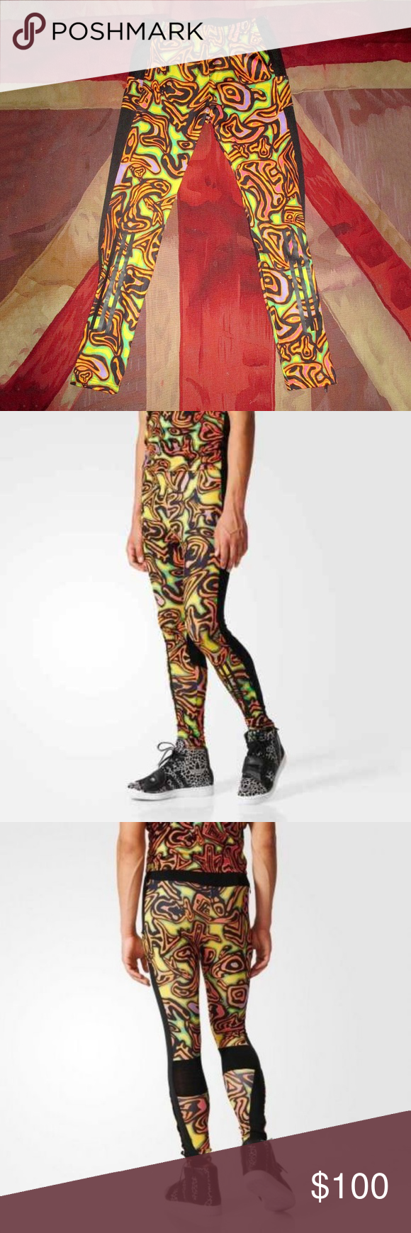 ce30a9d7a723a Adidas Originals x Jeremy Scott Psychedelic tights Adidas Originals x  Jeremy Scott Psychedelic Leggings Men s Obyo