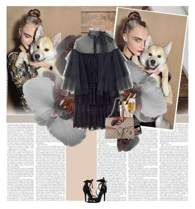 """""""Cara Delevingne"""" by alina ❤ liked on Polyvore featuring Bobbi Brown Cosmetics and Schutz"""