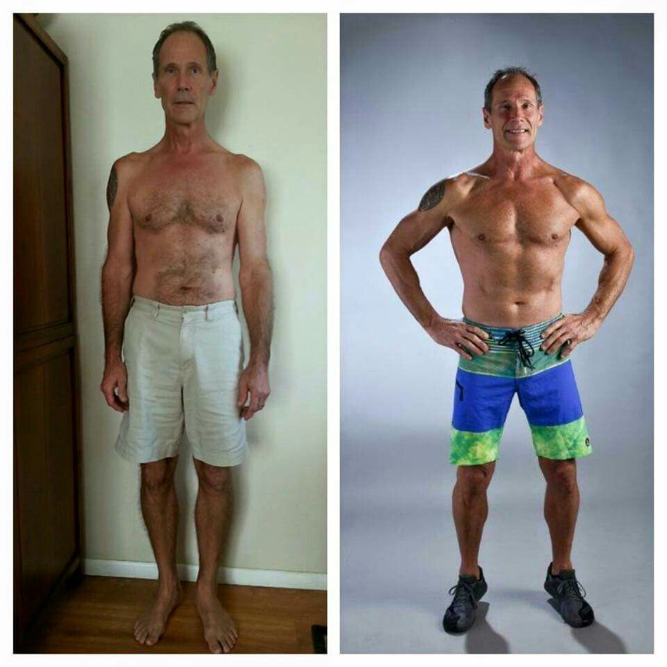 This man is about to be 60 years old. This transformation