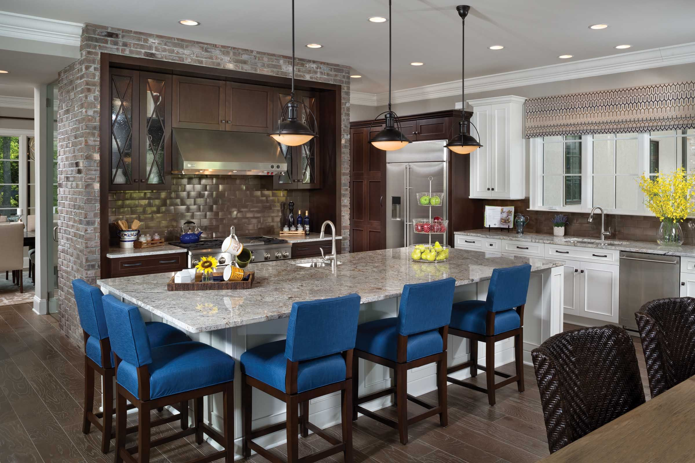 The kitchen in our versailles plan offers an incredible island with