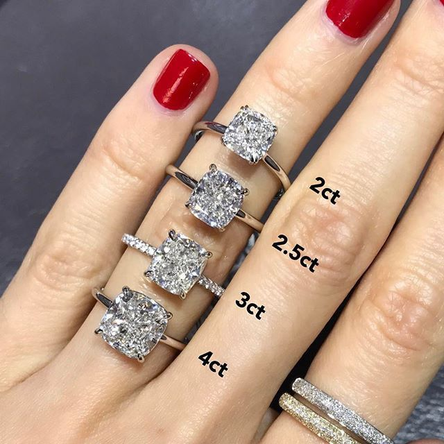Elongated Cushion Solitaire Engagement Ring Engagement