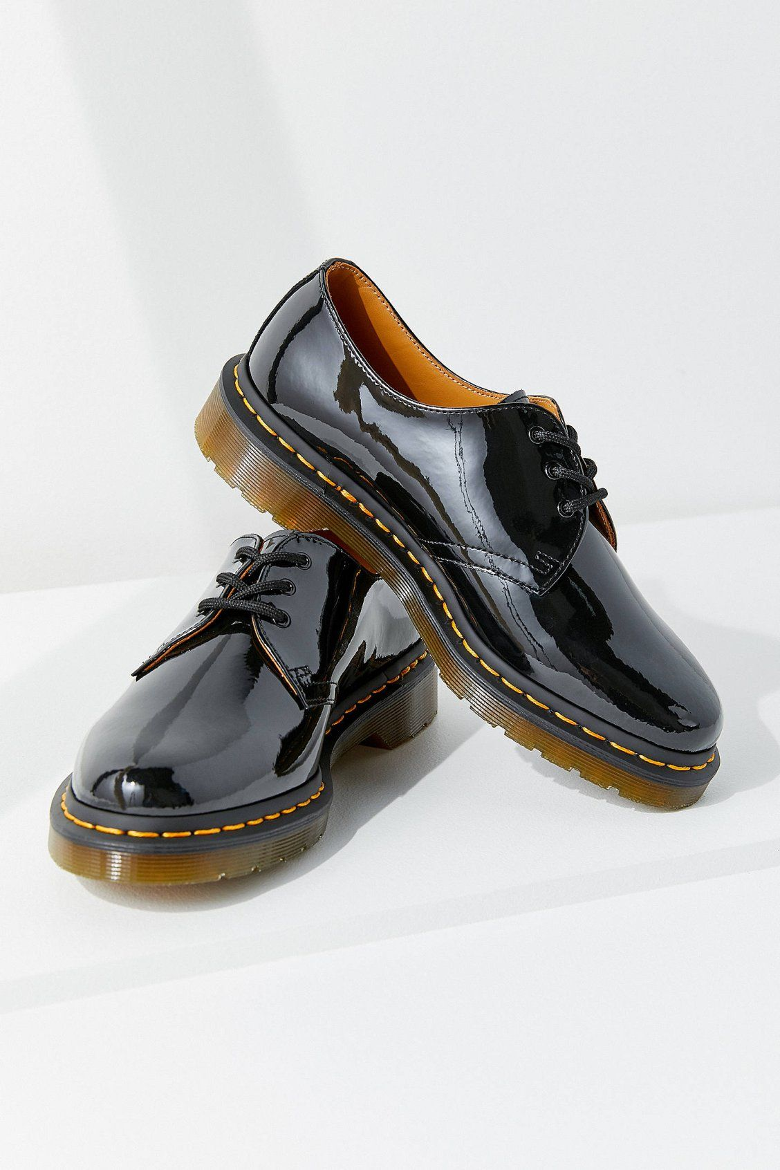 Dr Martens 1461 Patent 3 Eye Oxford Urban Outfitters Oxford Shoes Shoes Urban Dresses