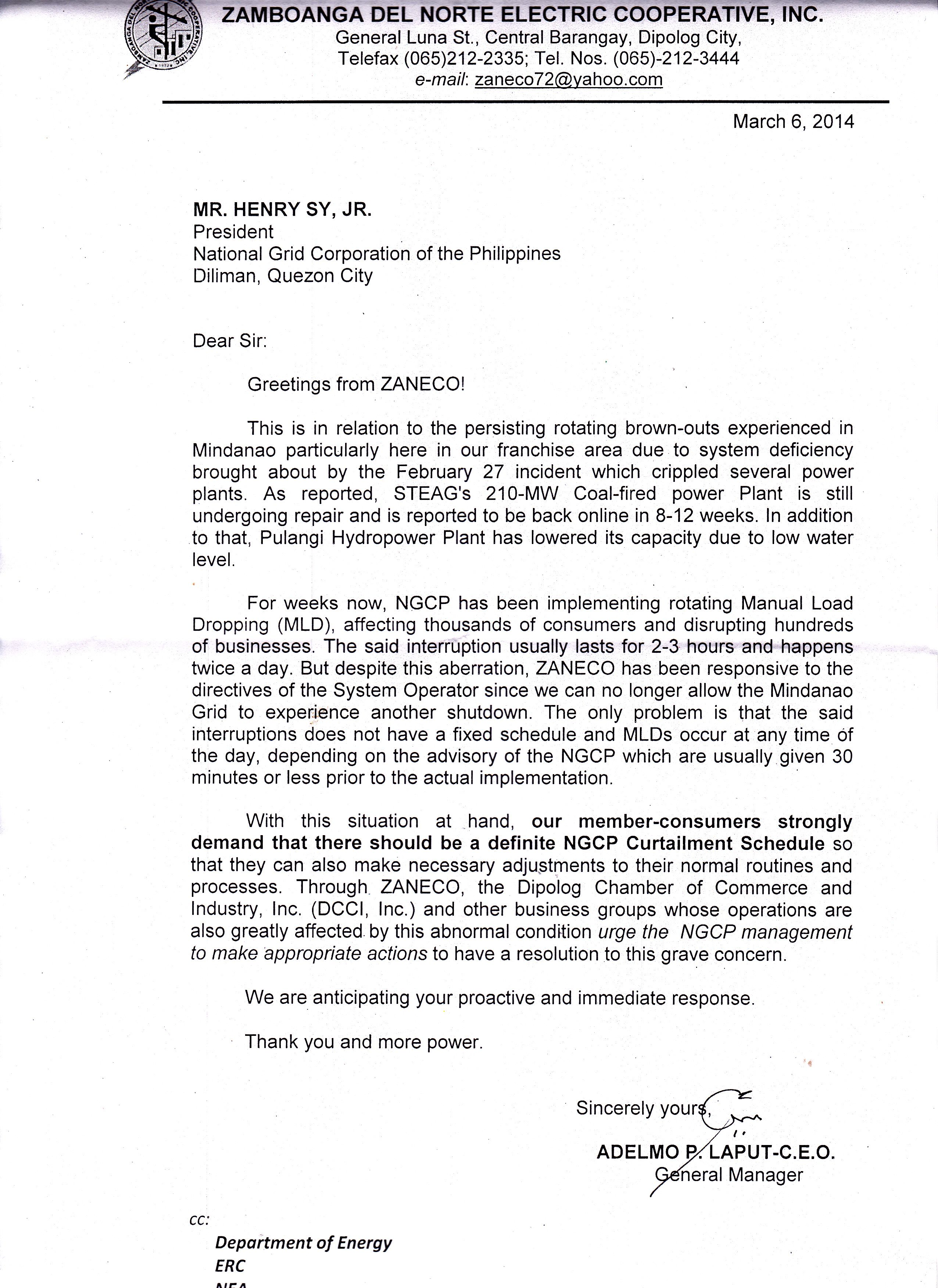 Ngcp Sample Application Letter Philippines Format Uncategorized