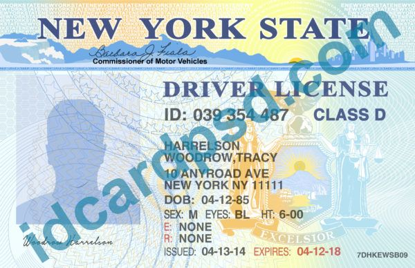 New York Driver License Psd Template Buy Id Card Psd Template