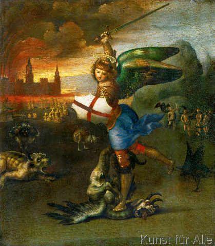 Schutzengel Kunstpostkarte Engel Raphael und Tobias