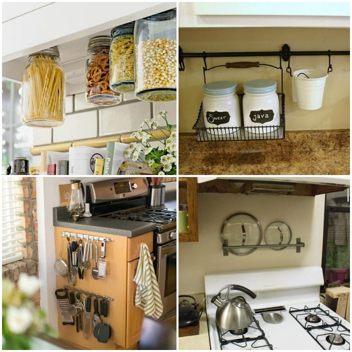 15 Clever Ways To Get Rid Of Kitchen Counter Clutter Kitchen Countertop Organization Kitchen Counter Organization Small Kitchen Counter