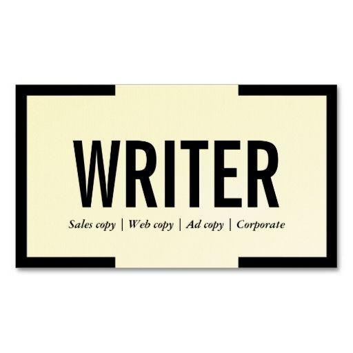 Freelance writer bold text black border business card business freelance writer bold text black border business card flashek Gallery