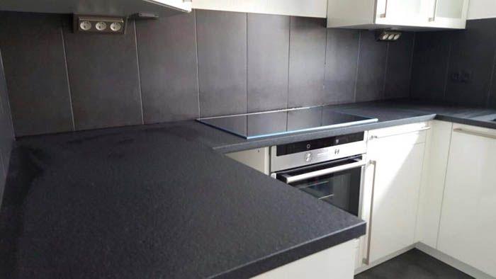 Aufmaß, Lieferung und Montage der #Granit #Arbeitsplatte, Material - granit arbeitsplatte küche