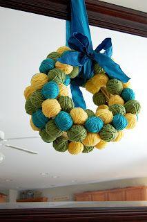 Southern Lovely: Yarn Egg Wreath