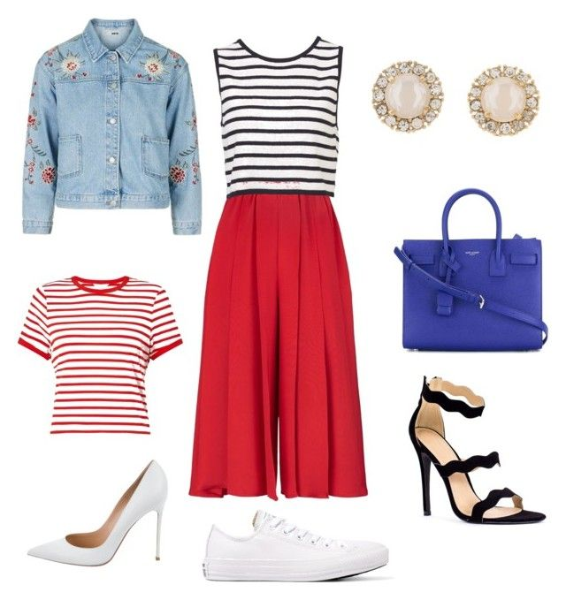 """Uma roupa versátil! Que dá pra ir ao trabalho e depois para um happy hour!"" by rafaela-venancio on Polyvore featuring moda, Victoria Beckham, Miss Selfridge, Gianvito Rossi, Converse, Kate Spade, Yves Saint Laurent e Topshop"