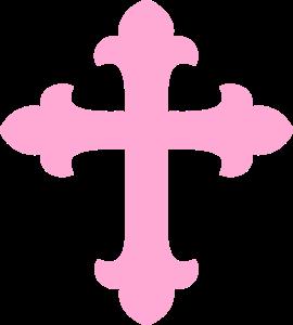 Light Pink Cross Clip Art Clip Art Online Art Art
