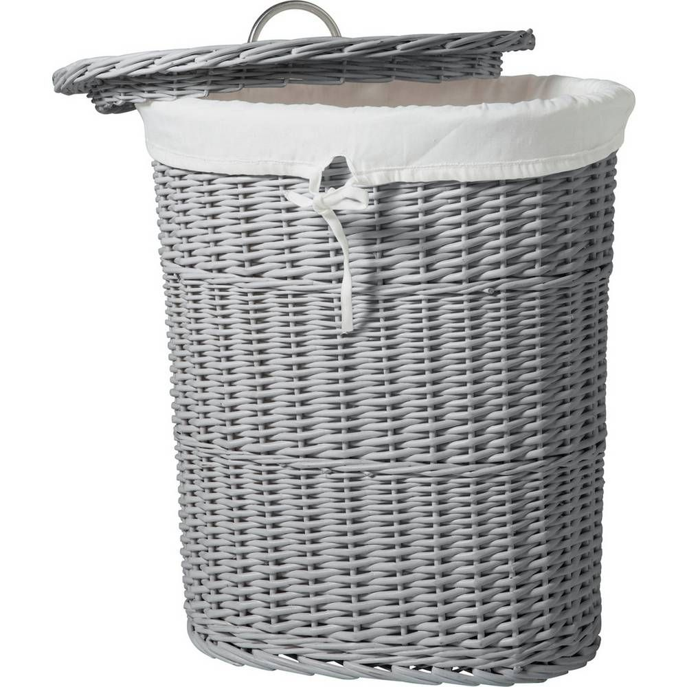 Buy Argos Home Willow 60 Litre Oval Linen Bin Grey Laundry
