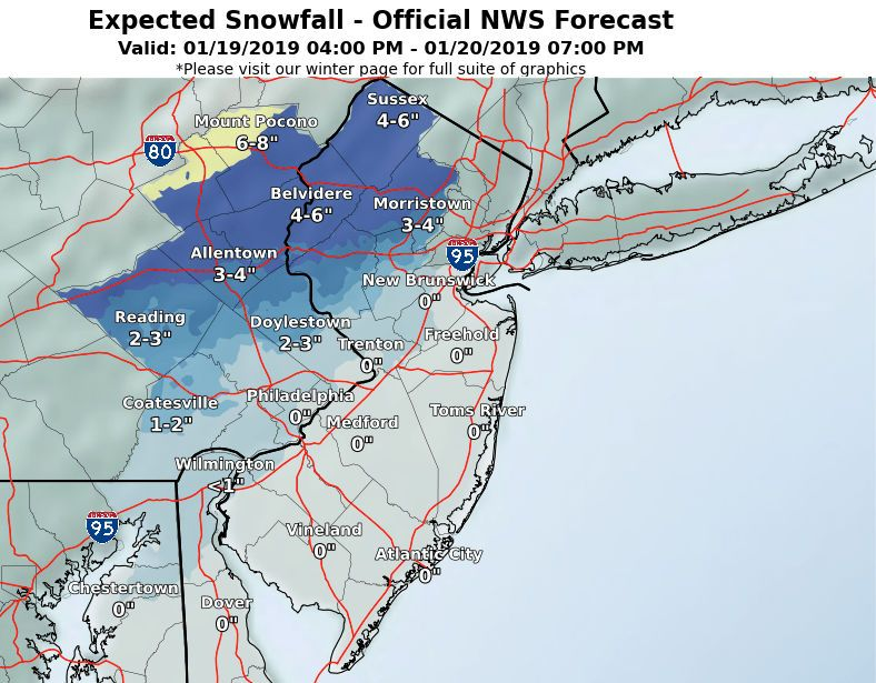 N J  weather: Latest storm forecast calls for less snow more