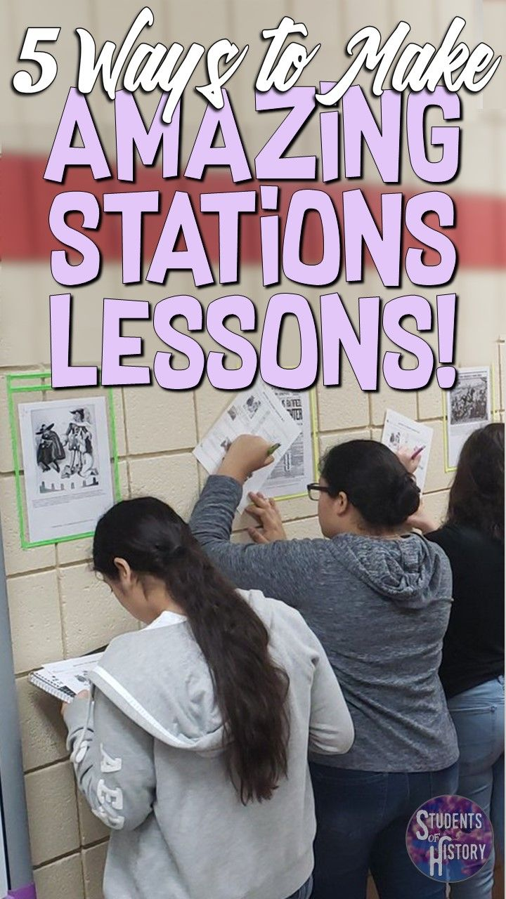 Five Ways to Make Awesome Stations Lesson Plans!