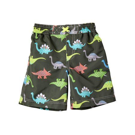 e11dbbdb3d Dinosaur All Over Print Board Short Swim Trunk (Baby Boys & Toddler Boys),  Size: 18M, Green