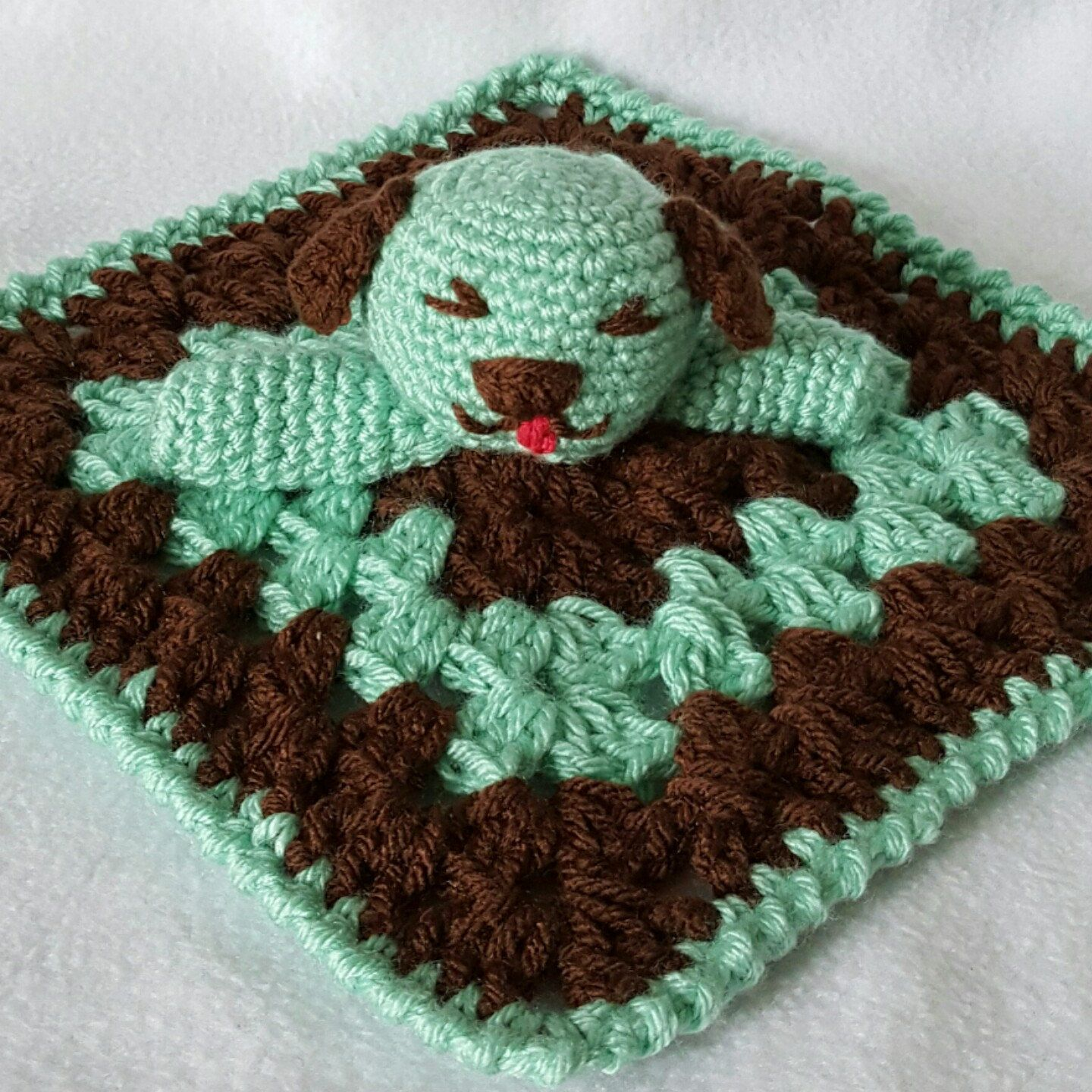 Cute baby blanket for snuggling.