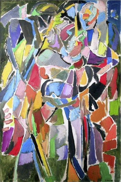 Composition Artist: Andre Lanskoy Completion Date: 1960 Style: Tachisme Genre: abstract