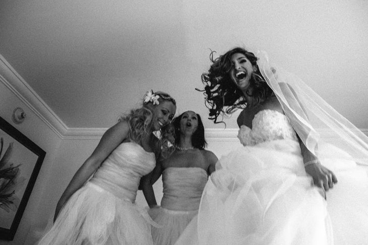 <3 There needs to be more brides jumping on beds