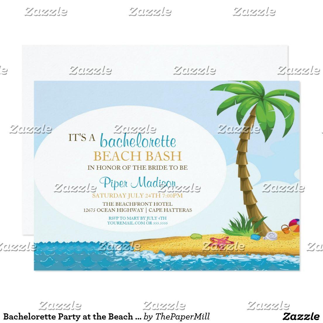 Bachelorette Party at the Beach Tropical Island Card ...