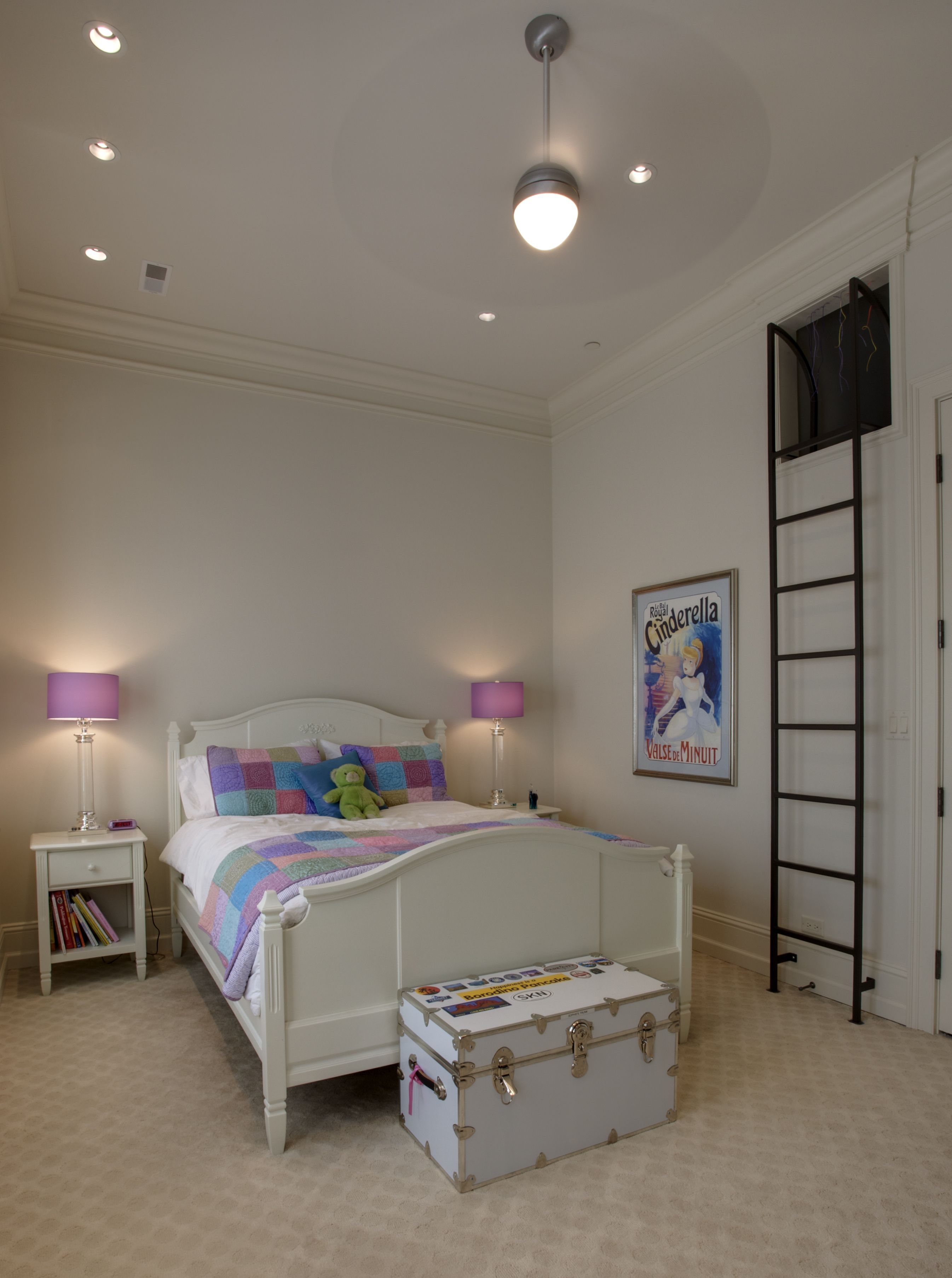 Lg construction development fun girls bedroom with secret play