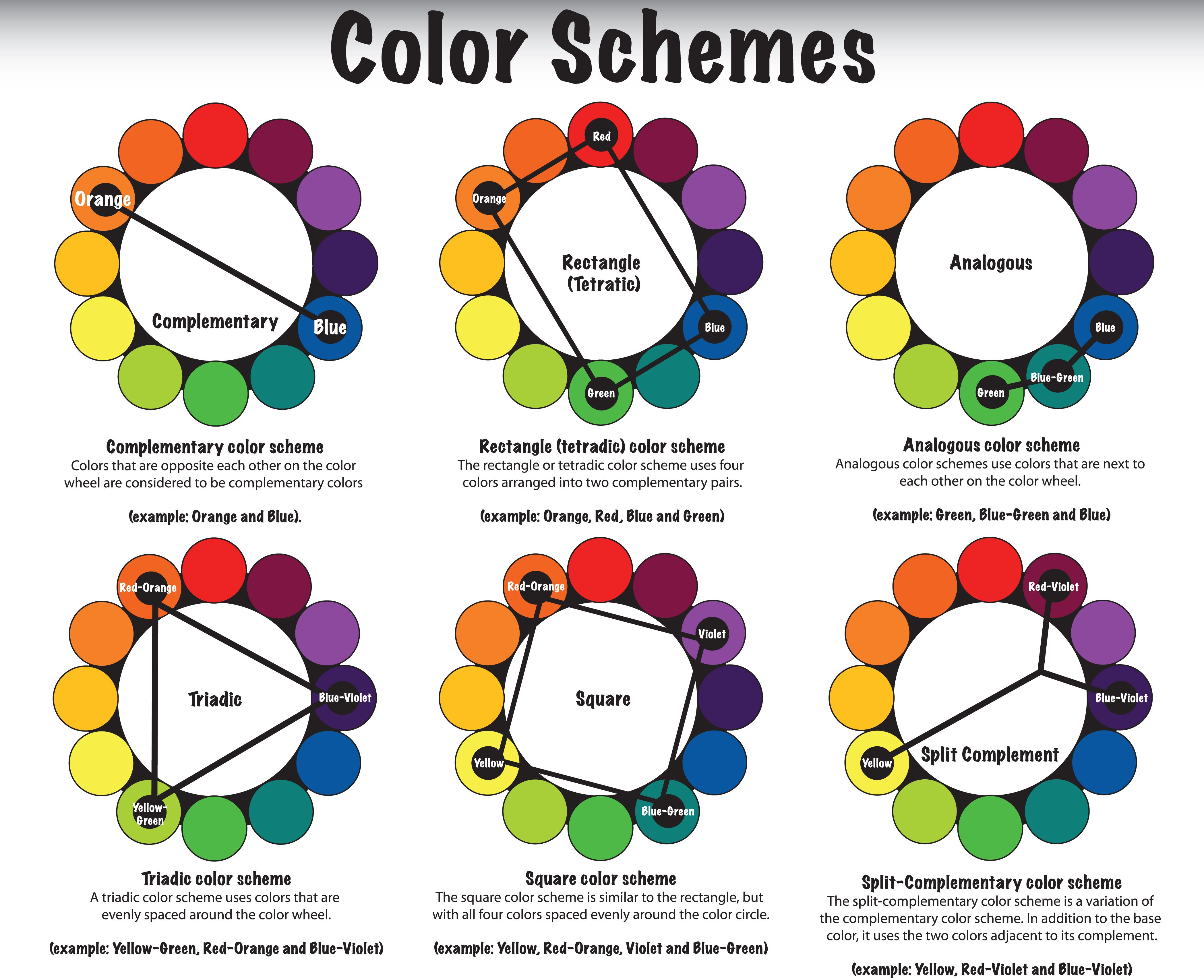 color schemes | Art LP Color Theory | Pinterest | Color wheels