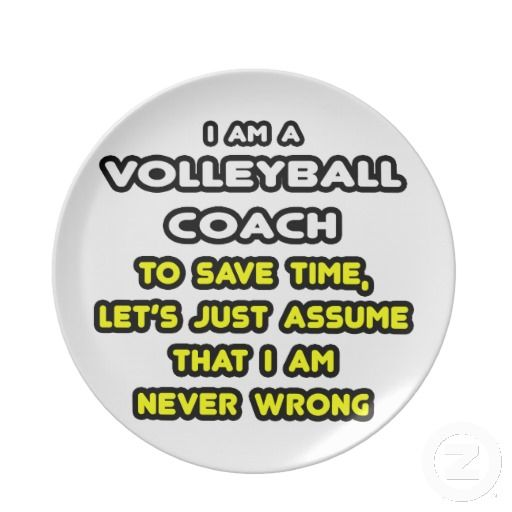 Funny Volleyball Coach T-Shirts and Gifts Party Plates