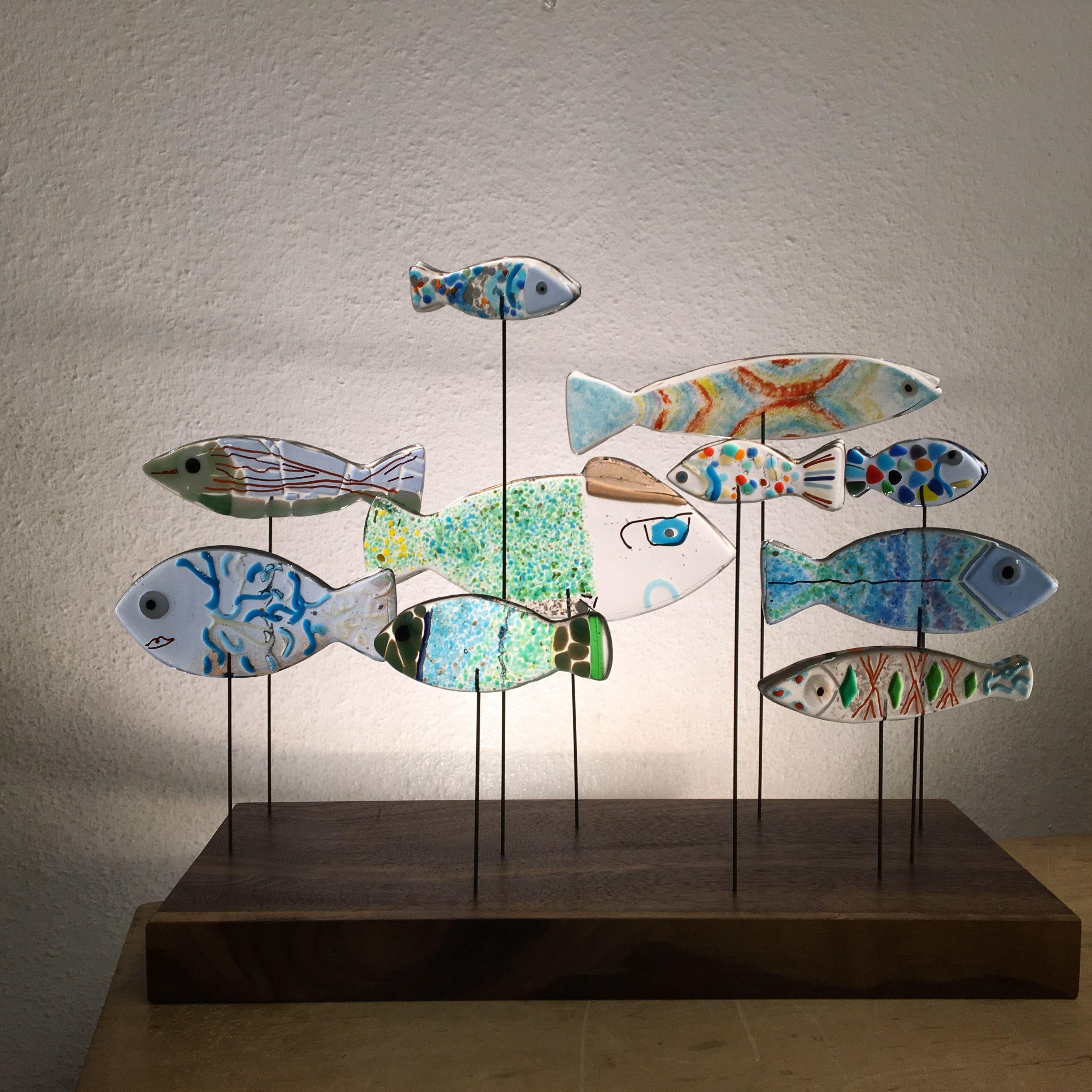 Glasfische Glassfish Gartenzwerg Deko Gestalten