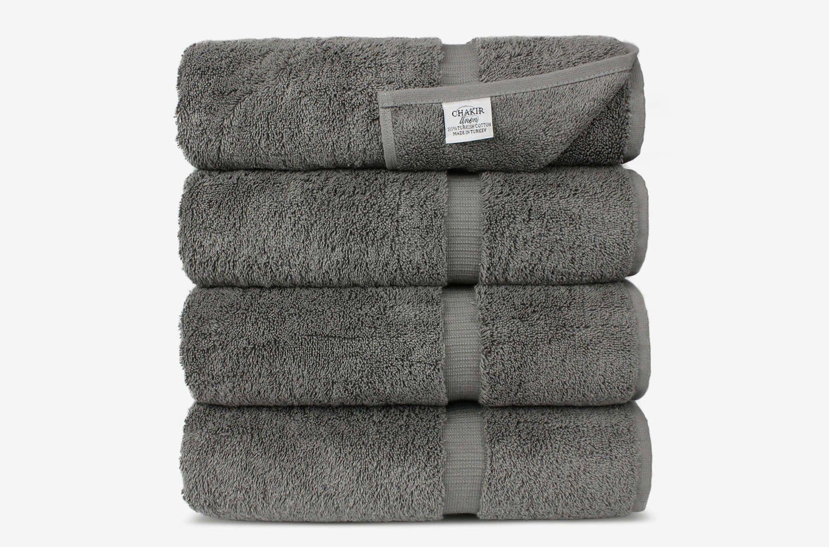 Chakir Turkish Cotton Luxury Hotel Spa Bath Towel Set Of 4