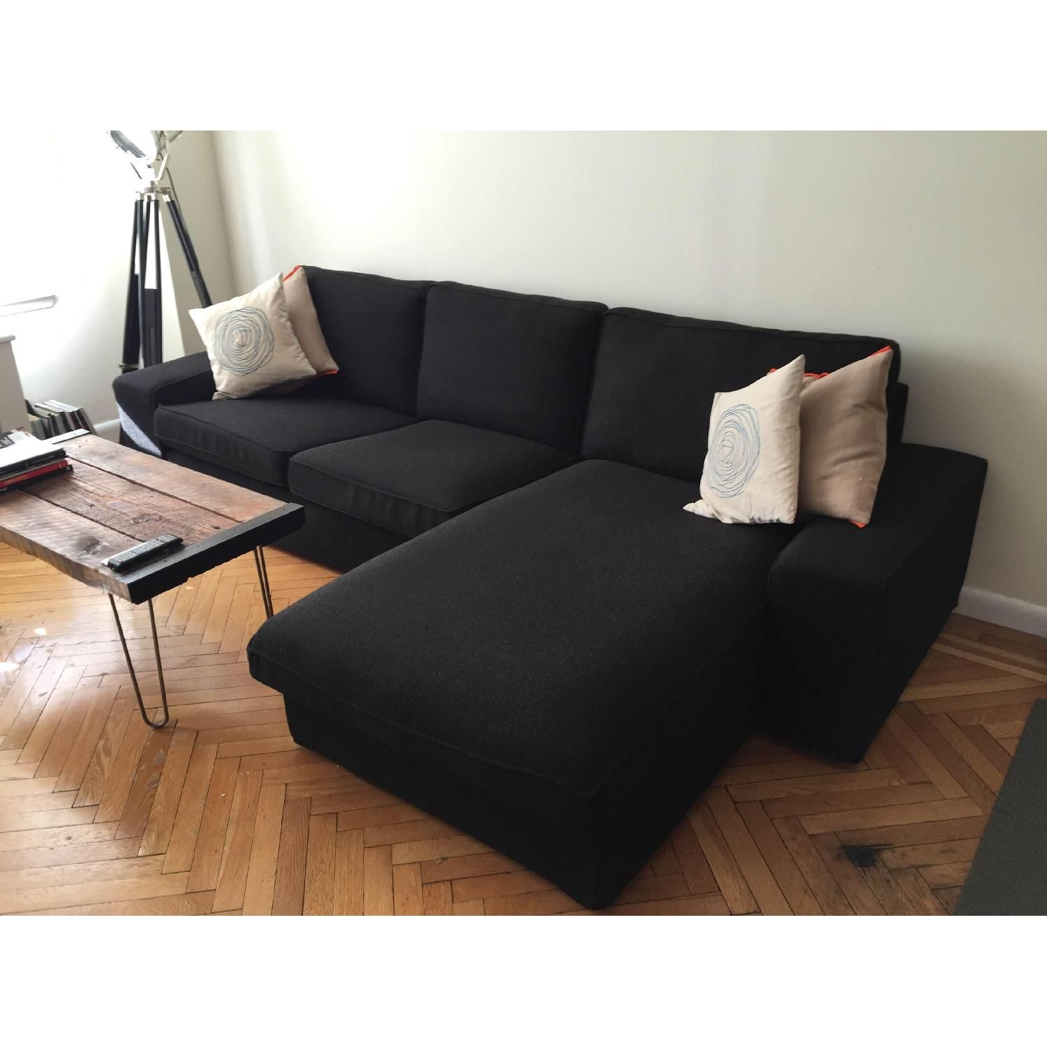 Ikea Kivik Loveseat and Chaise Lounge | Apartment furniture ...
