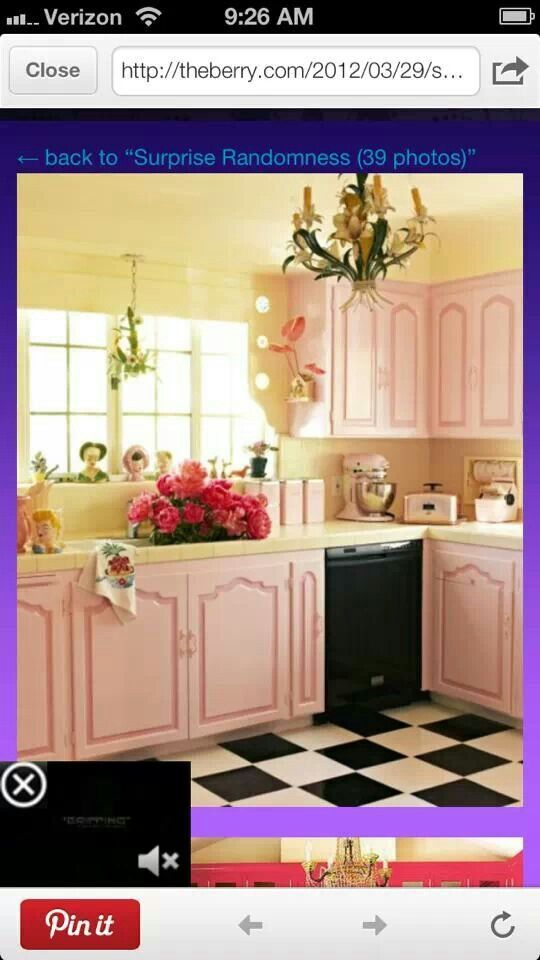 Pink cabinets?
